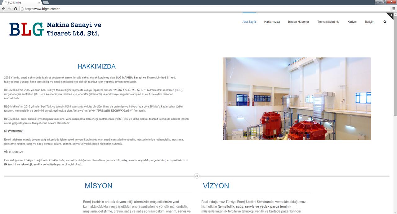 BLG makina web sitesi