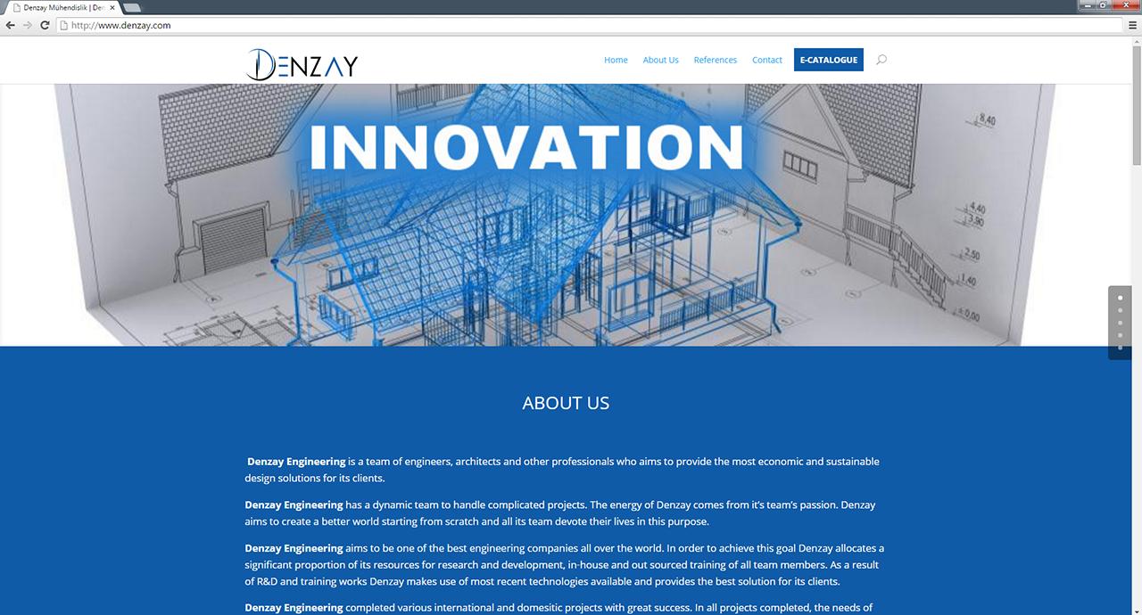 Denzay mühendislik web sitesi