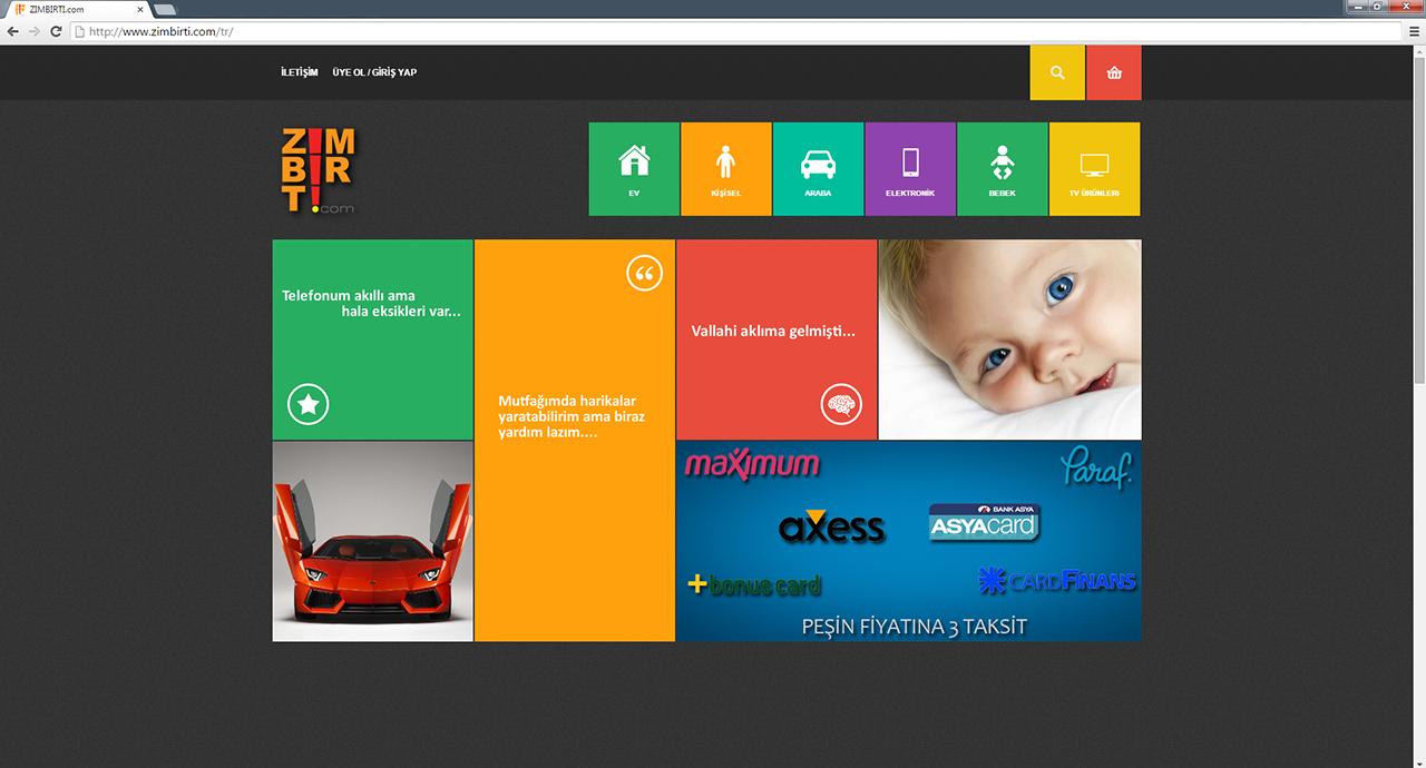 Zimbirti e-ticaret web sitesi