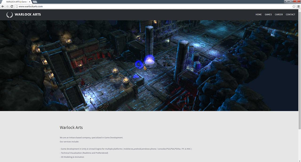 Warlockarts oyun web sitesi